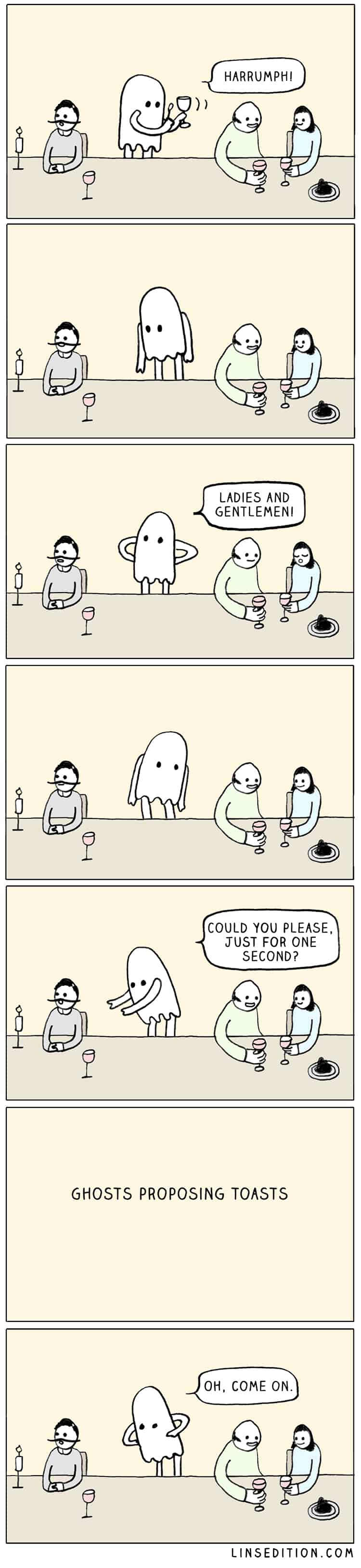 Ghosts Proposing Toasts